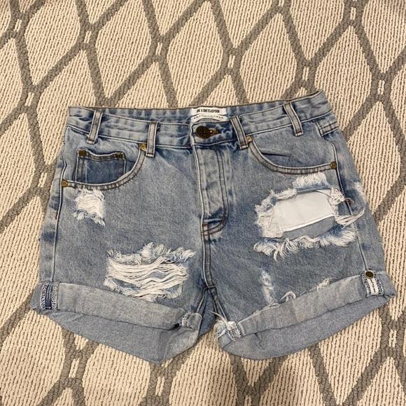One X oneteaspoon jean shorts